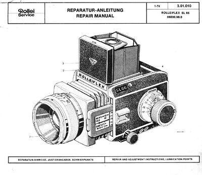 ROLLEI Repair SERVICE Manual Rolleiflex SL66 film camera