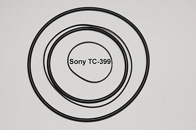 SET BELTS SONY TC399 REEL TO REEL EXTRA STRONG NEW FACTORY