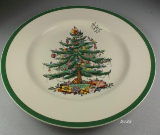 Spode Christmas Tree Dinner Plate  Set Of  Plates