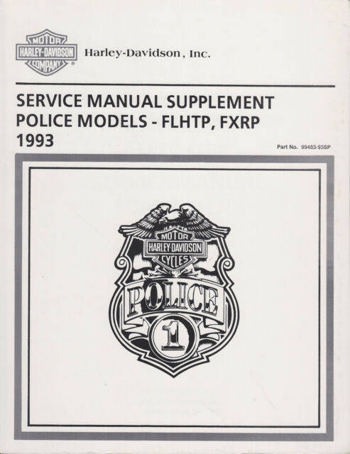 1993 Harley Touring POLICE FLHTP FXRP Service Repair