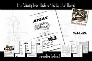 Atlas/Clausing Power Hacksaw 4350 Owners Manual Parts List