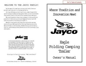 2002 jayco eagle wiring diagram ford f350 ignition switch fold down pop up tent trailer owners manual ebay image is loading