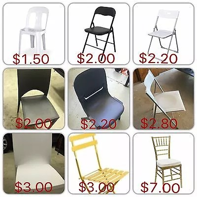 stackable chair covers australia reclining chairs and ottomans hire table marquees more lowest price guarenteed