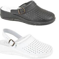 Kitchen Shoes Electronic Scale Ladies Comfort Leather Nurse Closed Toe Mule Hospital Details About Clogs Uk 3 9