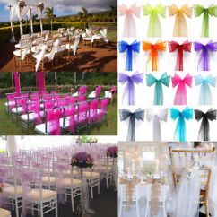 Wedding Reception Chair Covers And Sashes Kids Rocking Organza Cover Sash Bow Banquet Party Image Is Loading