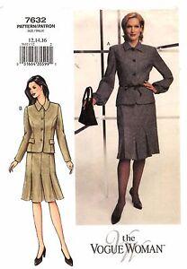 Woman Suit Pattern : woman, pattern, Vogue, Woman, Sewing, Pattern, Women's, JACKET, SKIRT, 12-14-16, UNCUT, 31664355991