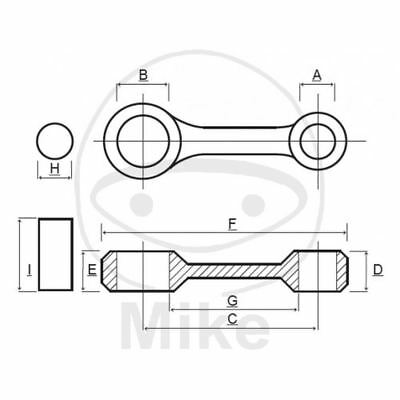 BIELLA PER ALBERO MOTORE PROX 756.05.37 KTM 400 SX Racing