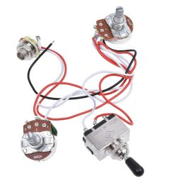 details about electric guitar wiring harness kit 3 way toggle switch 1v1t for guitar parts [ 1200 x 1200 Pixel ]