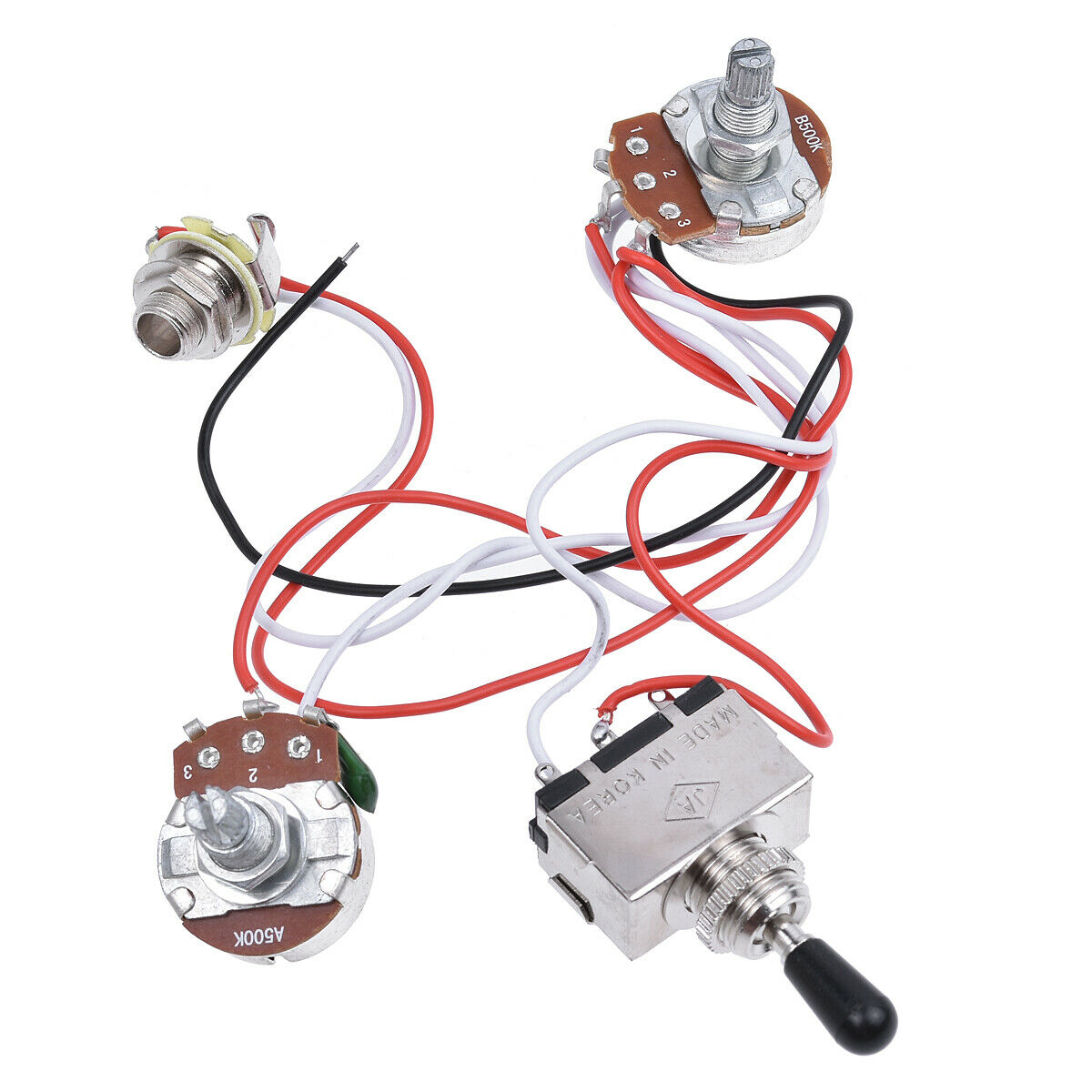 hight resolution of details about electric guitar wiring harness kit 3 way toggle switch 1v1t for guitar parts