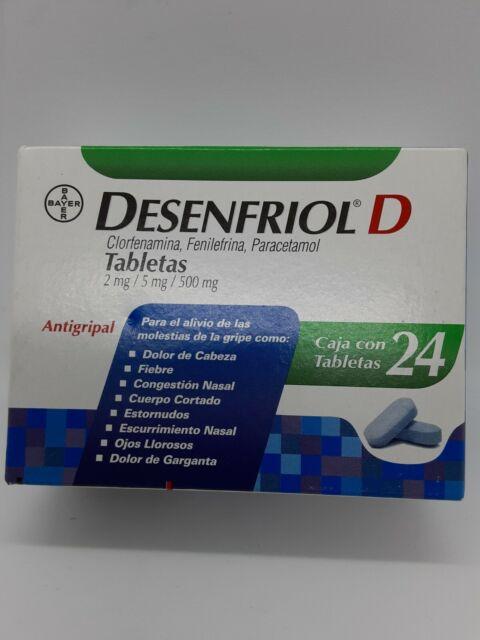 Desenfriol D Cold-Anti-flu-fever-Headache Relief ...