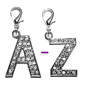 *LARGE* Diamante Bling Crystal Alphabet Letter Dog Collar