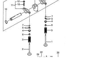 S3L Engine Valve Spring Set for Mitsubishi S3L2 Diesel