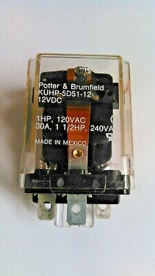 Potter Amp Brumfield Kuhp 5d51 12 Relay 12vdc 30a Excellent