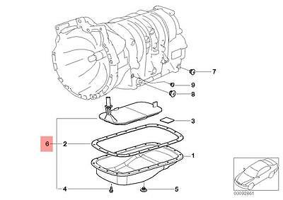 Genuine BMW E53 SUV Transmission Oil Filter Kit OEM