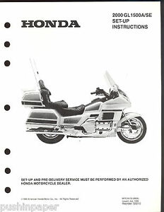 2000 HONDA GL1500A/SE MOTORCYCLE SET UP & PRE-DELIVERY