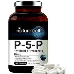 P5P As Pyridoxal Phosphate 100mg. 180 Capsules. Activated Vitamin B6. Powerfully 642893353780 | eBay