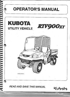 Kubota RTV900XT Utility Vehicle Operator Manual K7501