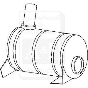 John Deere Parts MUFFLER VERTICAL EXH. AL35753 3400 (W