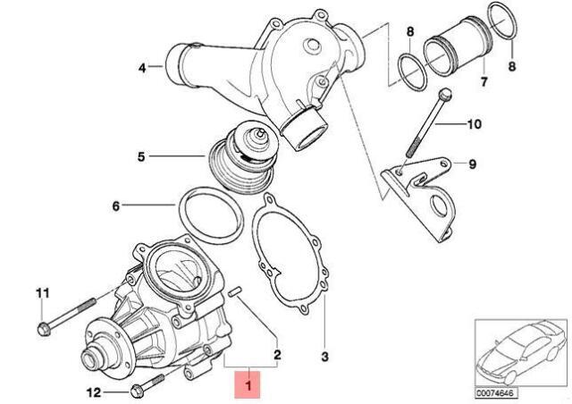 Genuine BMW E46 M3 Cabrio Coupe Water Pump OEM 11517838118
