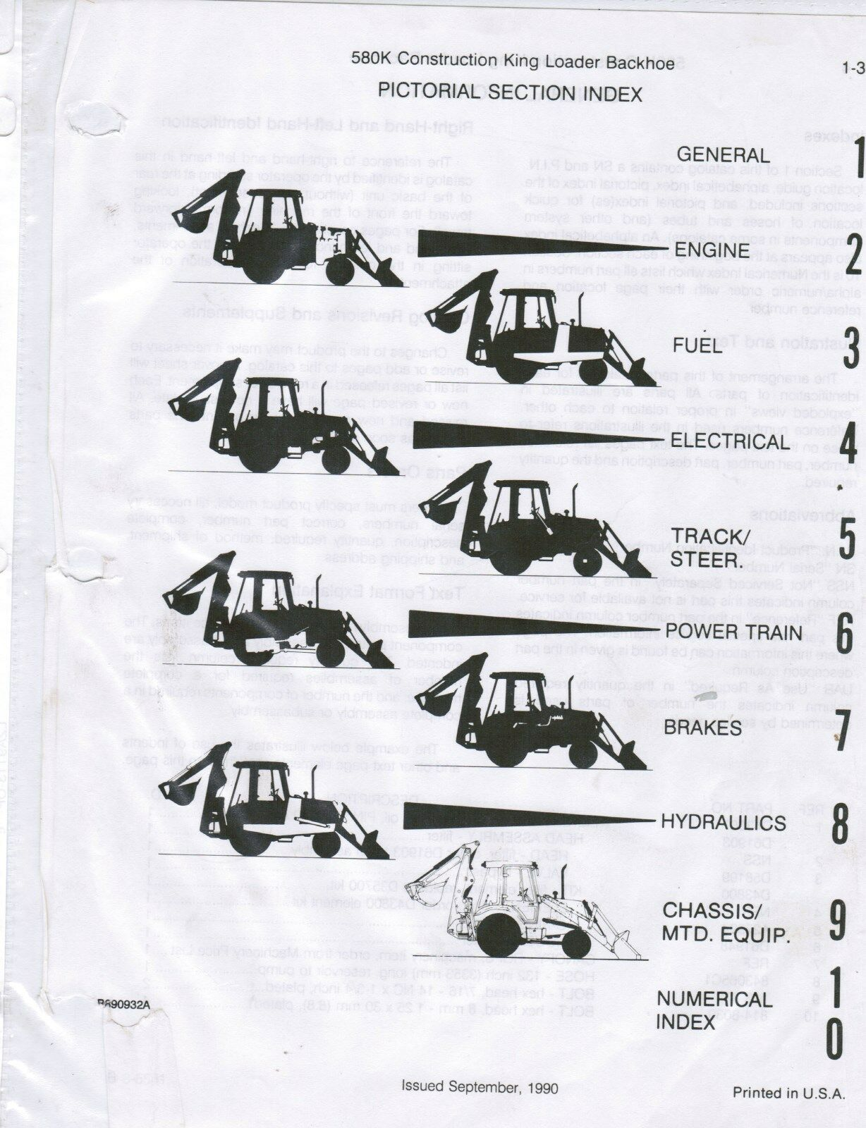 Case 580k Construction King Backhoe Parts Catalog Manual