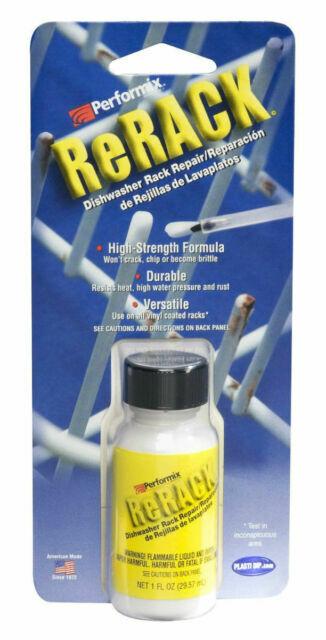 performix 630076 rerack white vinyl dishwasher rack repair coating