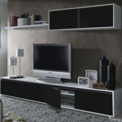 Black Wall Units For Living Room Valances Windows Clearance Aida Tv Unit Furniture Set Media Image Is Loading