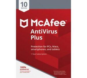 Descargar McAfee Antivirus Plus 2020 1 año de dispositivos ilimitados Windows Android