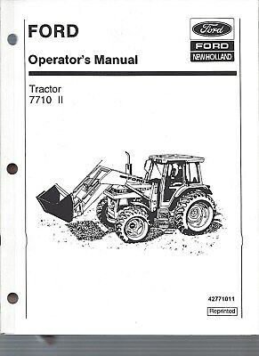 FORD 7710 Tractor Operators Manual, Series II, 1985 to