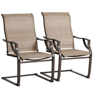 details about bali outdoor all weather spring motion teslin patio dining chairs set of 2 pcs