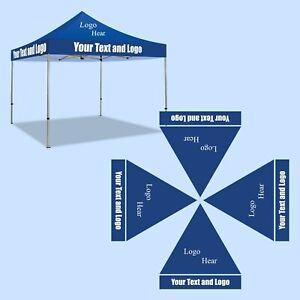 Custom EZ Pop-Up Canopy Tent. Instant Outdoor Gazebo Shelter - ONLY TOPPER   eBay