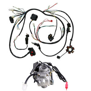GY6 150cc Carburetor + Wiring Harness for Moped Scooter