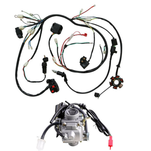 Electrics Wiring Harness Loom CDI Coil For GY6 150CC ATV