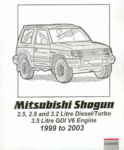 Workshop Manual Mitsubishi Pajero Shogun Montero 1999-2003