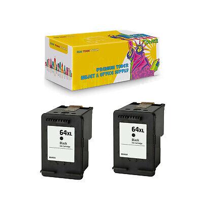 2PK Compatible N9J92AN Black Ink Cartridge for HP 64XL BK ENVY 7830 7855 7858 | eBay