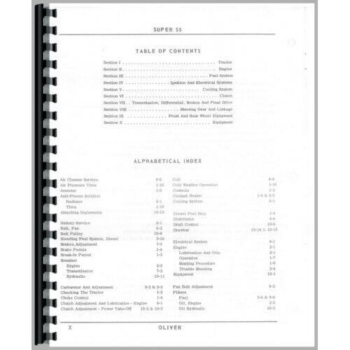 Oliver Super 55 Tractor Operators Owners Manual Utility