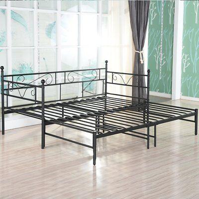 canape lit double en metal noir options avec lit gigogne lit de repos avec lit ebay
