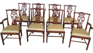 maitland smith dining chairs baby target l46438 set 8 chippendale mahogany 4031 059 image is loading
