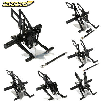CNC Rear Sets Rearsets Footrest Pedal Fit For Suzuki
