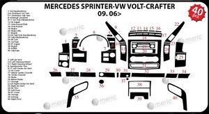 Mercedes Sprinter 906 2006–Present Dash Trim Kit 3M 3D