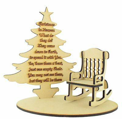 Christmas In Heaven Memorial Gift Remembrance Loved One Christmas Tree Craft Ebay