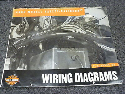 2002 harley davidson electra glide road king electrical wiring diagram  manual  ebay