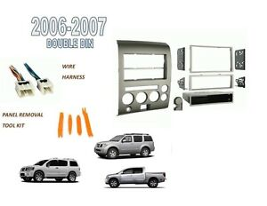 Fits NISSAN TITAN PATHFINDER ARMADA 2006-2007 2 DIN STEREO