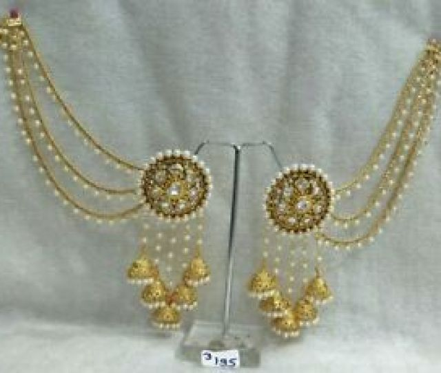 Image Is Loading Earring Women Gold Plated Indian Fashion Party Ethnic