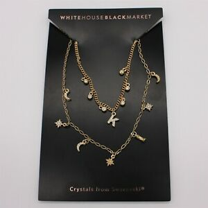All you need is an audience and bbq ribs. White House Black Market Whbm Initial Charm Necklace K New On Card Ebay