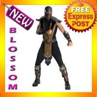 C321 Mens Deluxe Mortal Kombat Scorpion Fancy Ninja ...