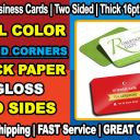 100 ROUND CORNER Full Color Gloss Custom Business Cards + Two Sides + FREE SHIP