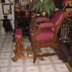 Antique Wood Barber Chair Modern High Back Chairs Kochs No 9 Two Piece 1880 S Ebay Image Is Loading
