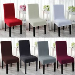 Dining Room Chair Covers Ebay Rail Trim Spandex Stretch Wedding Banquet Cover Party Decor Image Is Loading