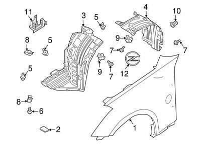 63844CD000 Nissan Protector-front fender, front rh