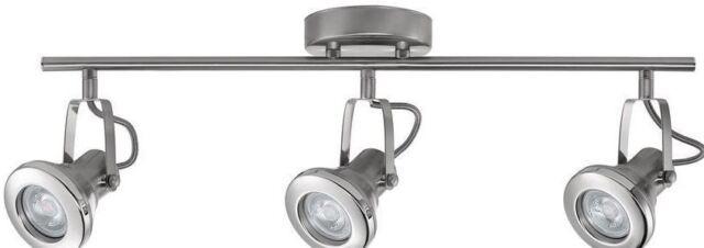 globe electric theodore led 3light brushed steel track chrome acc vanity k1